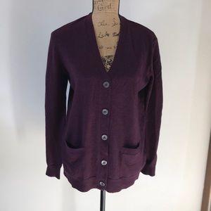 NWT Cardigan button up sweater 100% merino wool.